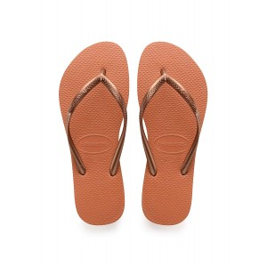 Havaianas slim orange bronze