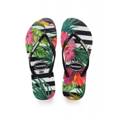 Havaianas slim tropical floral black