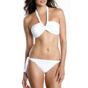 Swimsuit seafolly white bandeau goddess