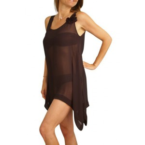 Guess black tunic beachwear