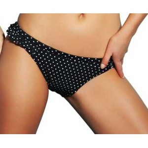 Freya bottom swimwear black with white dots