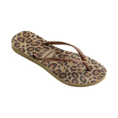 Tong havaianas femme slim animal gold