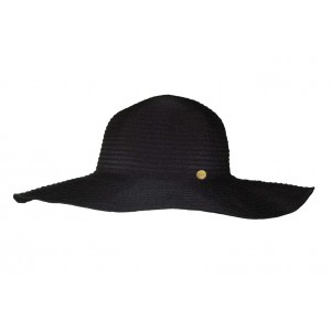 Seafolly black beach hat for women