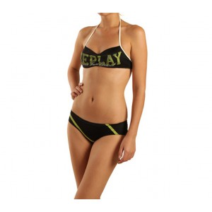 Replay black bandeau swimsuit