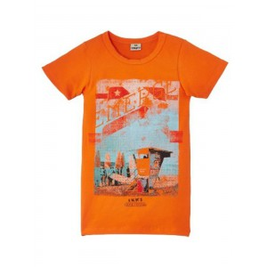 t-shirt Ikks garcçon orange exotic festival