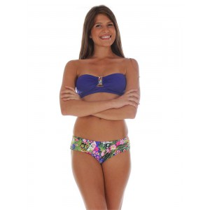 Banana moon blue bandeau swimsuit nailea
