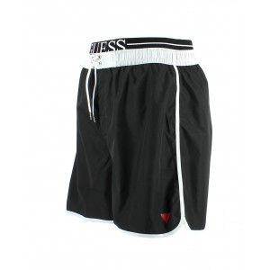 Guess short de bain noir homme mi-long