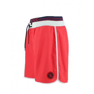 Guess short de bain corail homme mi-long