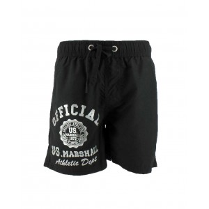 Us marshall men  black swimwear  board short