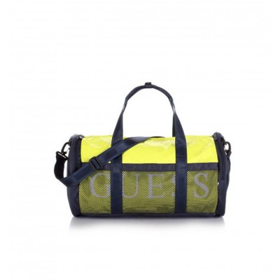 Guess yellow and navy sport bag