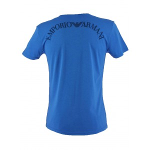 Emporio Armani tshirt blue collar v - armani in the back