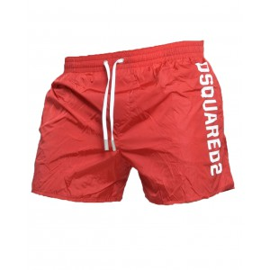 Dsquared2 short de bain homme rouge