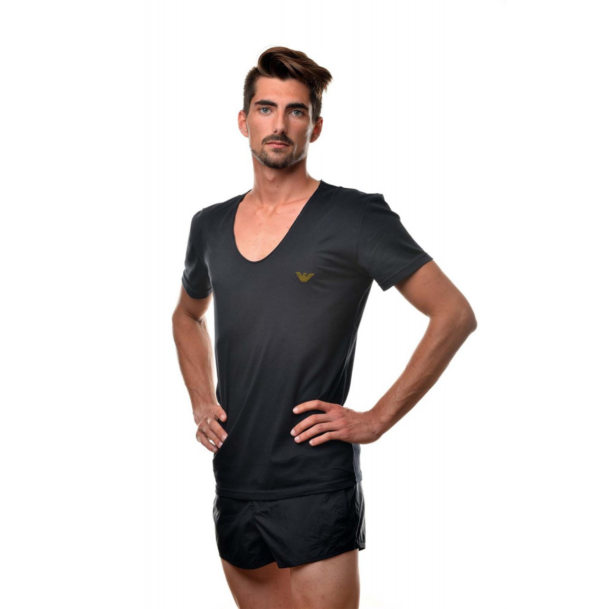 Emporio armani black tee shirt v neck V neck black t shirt