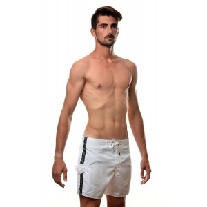 Emporio Armani white swim short for man cargo pocket
