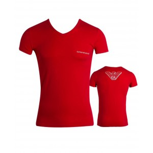 Emporio armani eagle t-shirt red