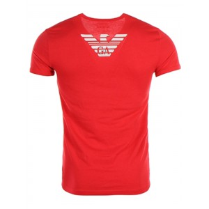 Emporio Armani red tshirt v neck short sleeves