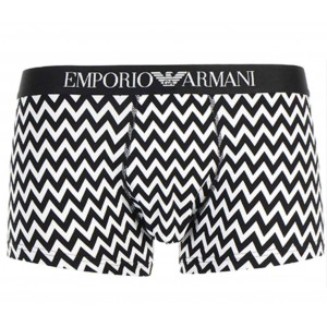 Emporio Armani boxer prints black and white graphic