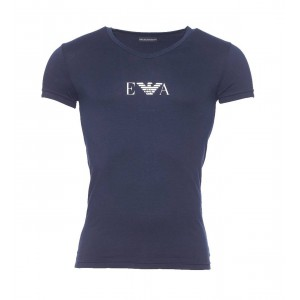 Emporio Armani navy blue  tshirt v neck short sleeves