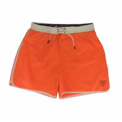 Guess short de bain orange homme mi-long