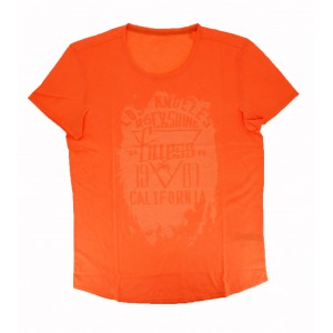 Tee-shirt short sleeves guess orange