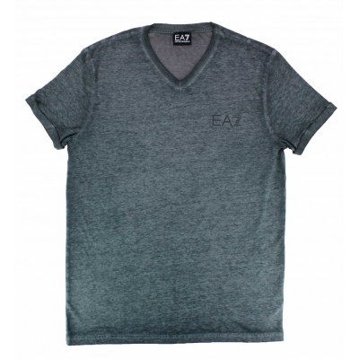 Emporio armani ea7 tee-shirt v neck blue tencel