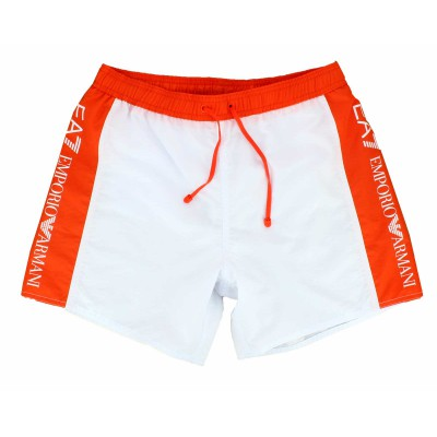 Emporio Armani EA7 swimwear bath short white and orange
