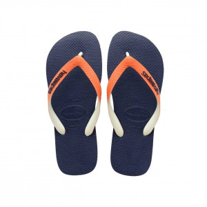 Flip flop havaianas for boy navy blue with orange details