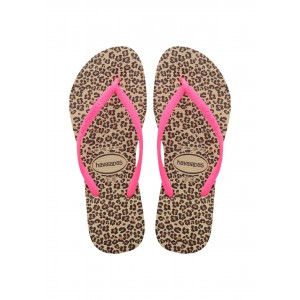 Havaianas infradito slim junior animal gold rose