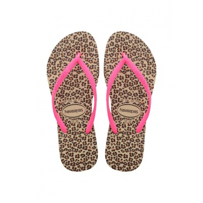 Havaianas tong enfant slim kid gold et rose