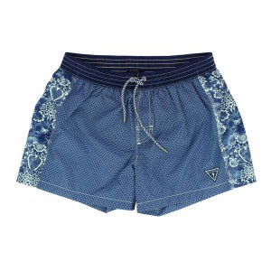 guess blue man swimwear short