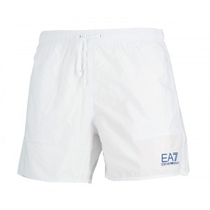 Emporio Armani white swim short for man ea7