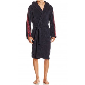 Emporio Armani navy blue bathrobe