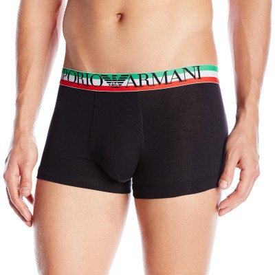 Armani white trunk for men black with green belt