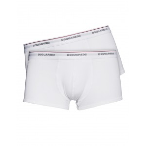 Dsquared2 bipack white trunk for men cotton stretch