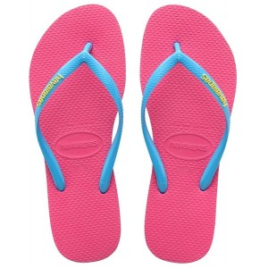 havaianas tong slim pop up rose brides turquoises