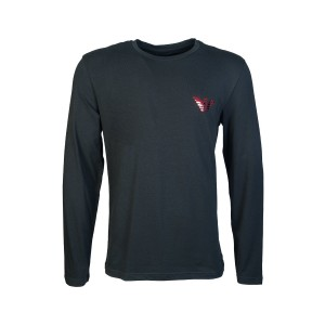 Emporio armani t-shirt black long sleeve logo mirror