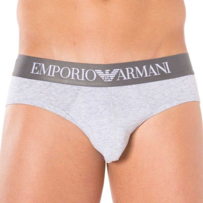 Emporio armani gray brief for man