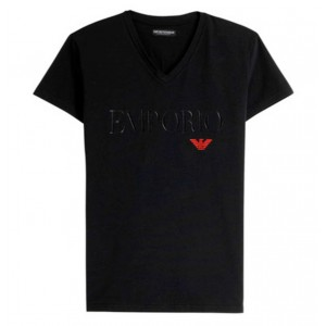 Armani black t-shirt v neck short sleeve