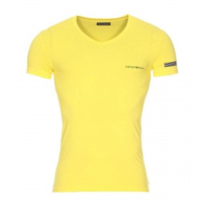 Armani yellow t-shirt v neck short sleeve