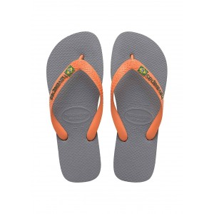 Havaianas infradito uomo multicolore steel grey orange