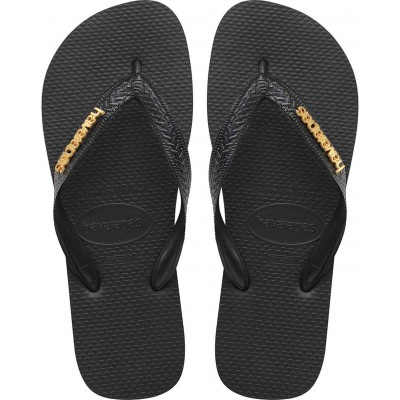 Havaianas slim flipflop black with gold logo