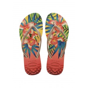 Havaianas slim tropical light yellow
