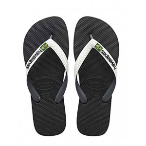 Havaianas tong brasil mix noir brides blanches