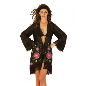 Ondademar Bursa black tunic with beautiful emboidery