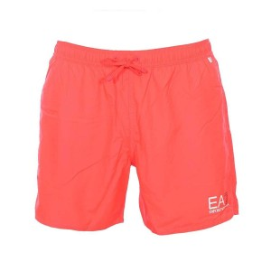 Emporio Armani Ea7 short de bain orange fluo