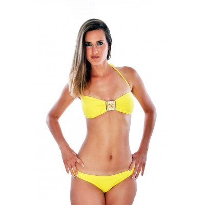 Ondademar swimsuit bandeau yellow