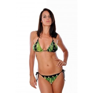Aguaclara maillot de bain triangle selva vert
